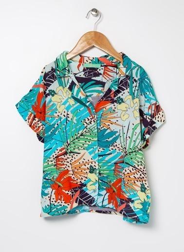 Tyess Tyess B&G Renkli Kız Çocuk Gömlek Renkli